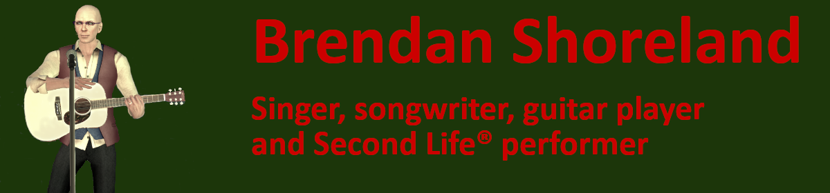 Brendan Shoreland (aka David Walton) – Virtual World Musician & Performer